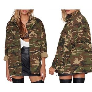 Military Camo Lightweight Camouflage Army Jacket